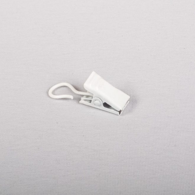 Metal curtain clips for the slider white colour No. 333 1