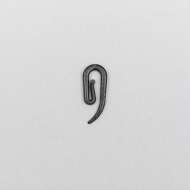 Plastic hook for slider single black colour No. 750