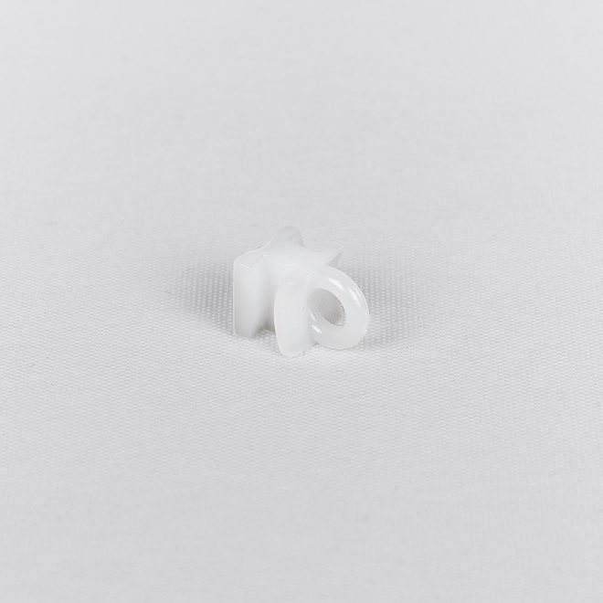 Plastic slider for hooks and metal curtain clips white colour No. 10665