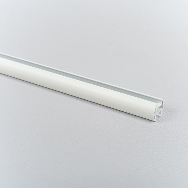 Profile for curtain rod ASPEN Ø19mm matte white colour