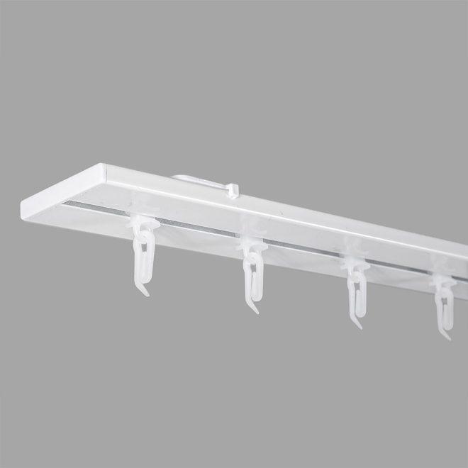 Aluminium system UNIVERSAL-PROFILIS 1 and 2 rails set white colour