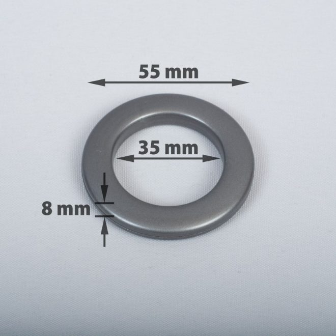 Compressible ring for the curtain tube Ø25-28mm graphite colour