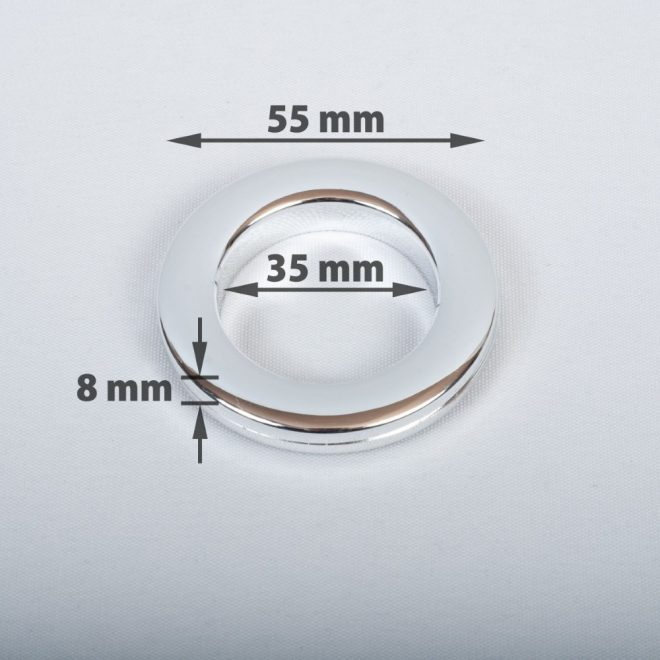 Compressible ring for the curtain tube Ø25-28mm shiny сhrome colour