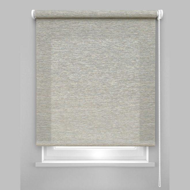 Roller blind PRESTIGE bright grey colour HMR-821