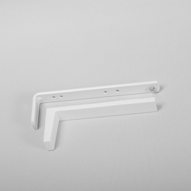 Metal wall holder L13,7cm with plastic cover white colour No.137