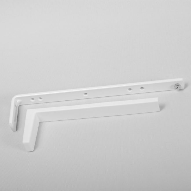 Metal wall holder L19,7cm with plastic cover white colour No.197