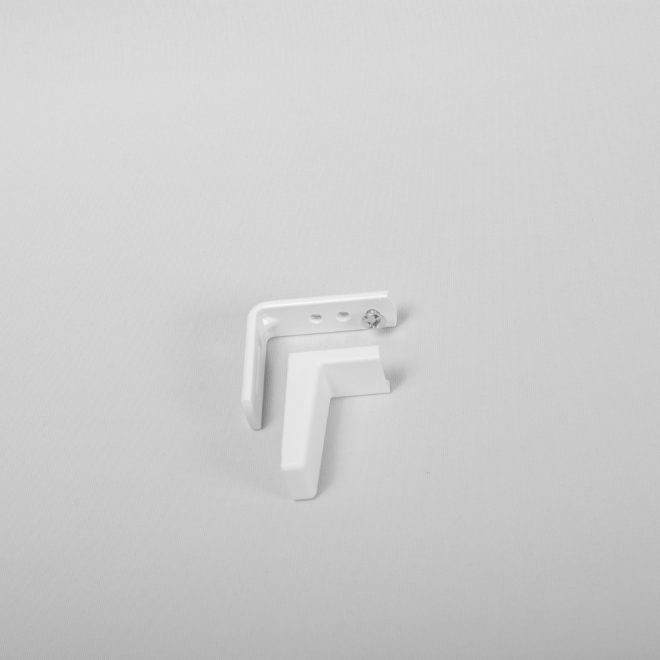 Metal wall holder L4,7cm with plastic cover white colour No.47
