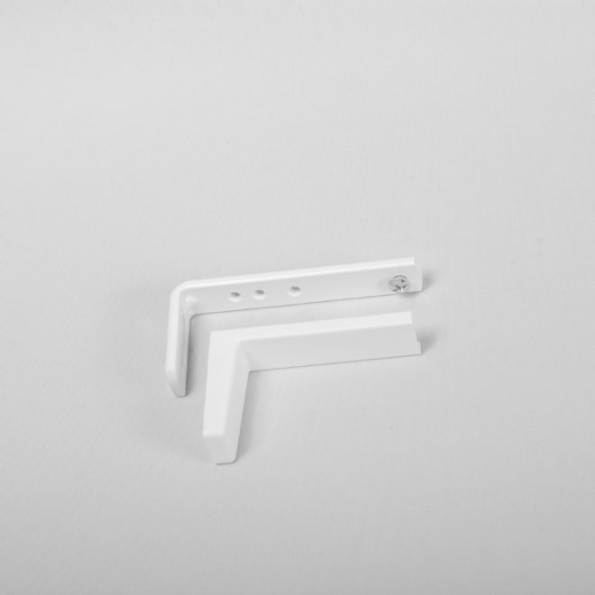 Metal wall holder L8,7cm with plastic cover white colour No.87
