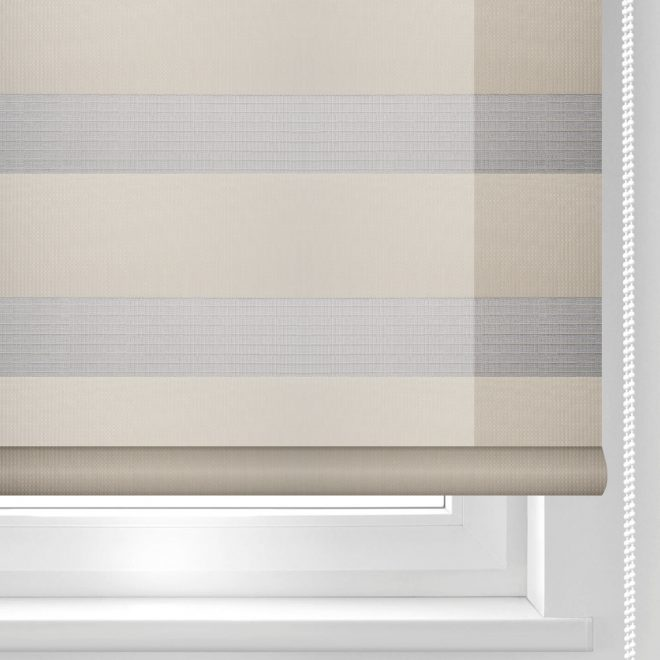 Roller blind DAY-NIGHT bright yellow colour ZPF-2