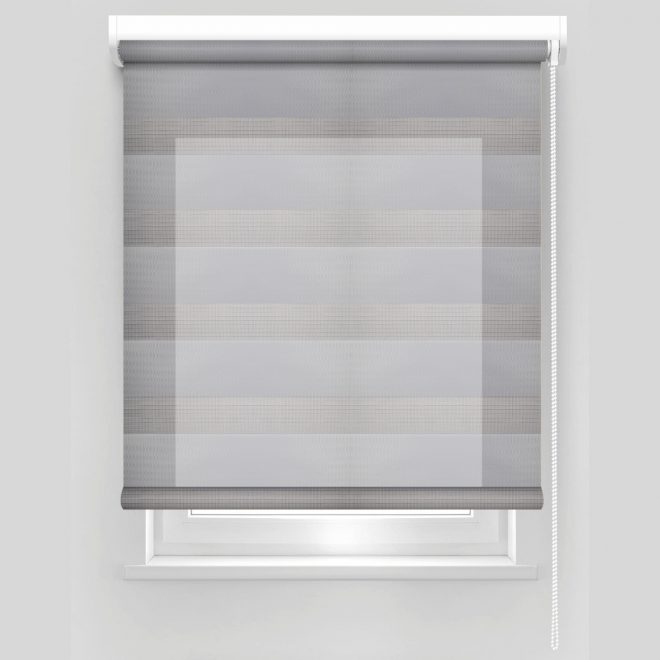 Roller blind DAY-NIGHT grey colour ZPF-16